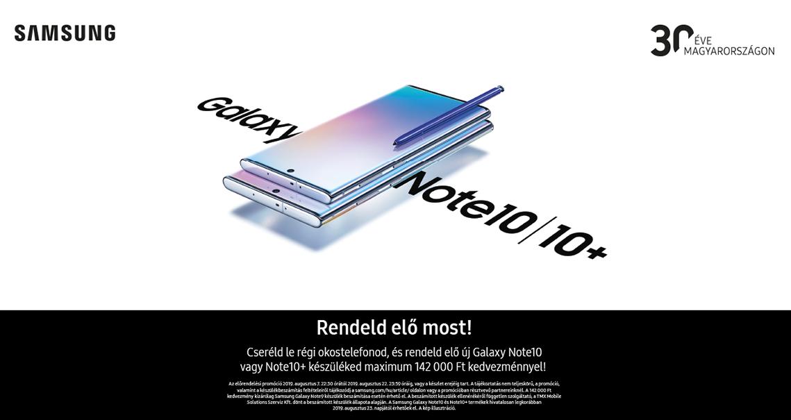 Samsung Galaxy Note10 és Note10+ előrendelés logo