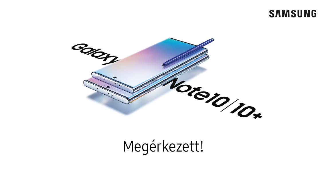 Samsung Galaxy Note10 és Note10+ logo