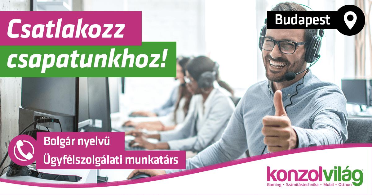 Bolgár nyelvű Ügyfélszolgálati és Webshop munkatárs