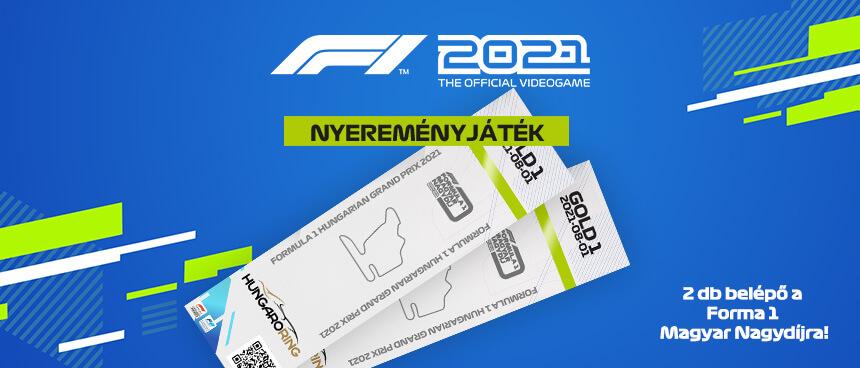F1 2021 – Nyerj belépőt a Forma-1-es Magyar Nagydíjra!