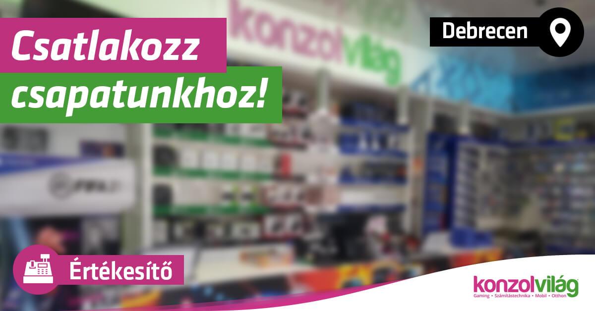 Értékesítő – Debrecen Pláza