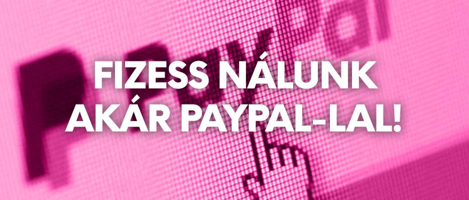 Mostantól PayPal-lal is fizethetsz a Konzolvilágnál!