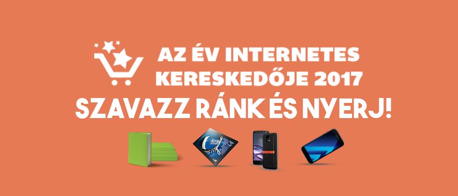 Szavazz ránk az év internetes kereskedője szavazáson, és nyerj!