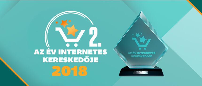 II. helyezést értünk el az Év Internetes Kereskedője 2018 versenyen