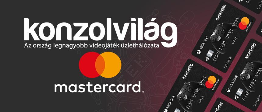 Bemutatkozik a Konzolvilág MasterCard kártya