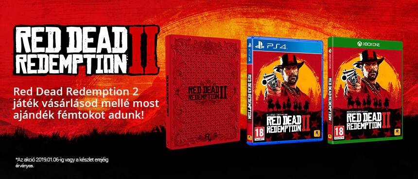 Ajándék SteelBook minden Red Dead Redemption 2 vásárlónak!