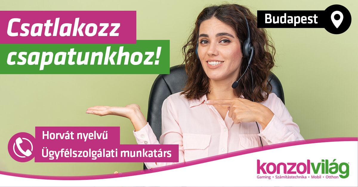 Horvát nyelvű Ügyfélszolgálati és Webshop munkatárs