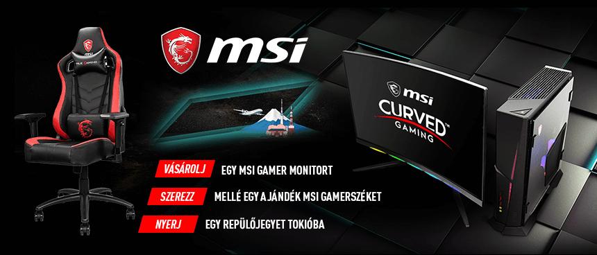 MSI Gamer monitor akció