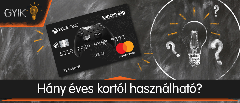 Konzolvilág Mastercard – Hány éves kortól igényelhető?