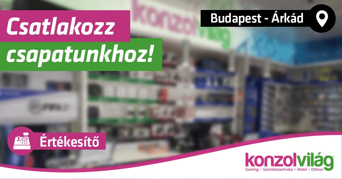 Értékesítő – Budapest Árkád