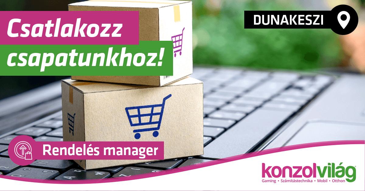 Rendelés manager - Dunakeszi