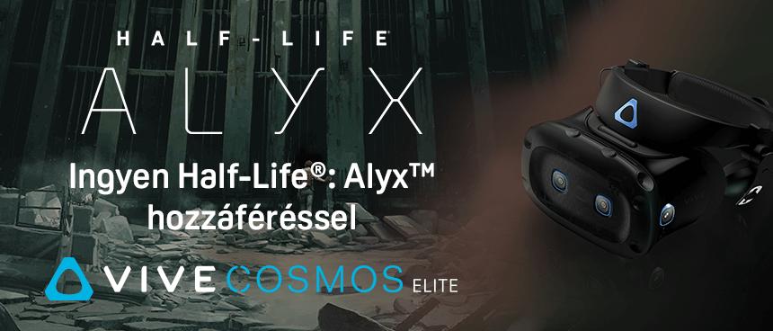 HTC Vive Cosmos Elite most Half-Life: Alyx teljes játékkal
