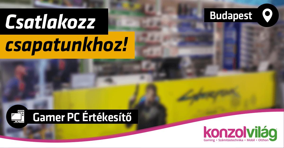 Gamer PC Értékesítő – Budapest