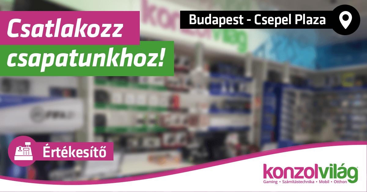 Értékesítő – Budapest Csepel Plaza
