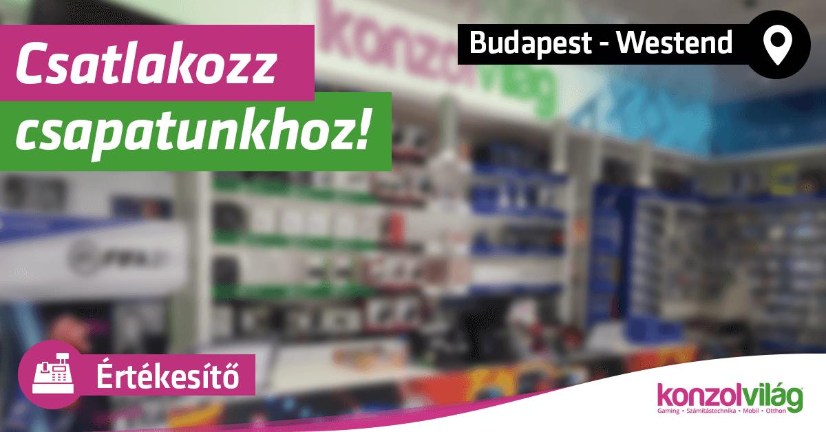 Értékesítő – Budapest Westend