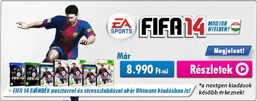 Már kapható üzletünkben az év egyik legjobb focis játéka, a FIFA 14