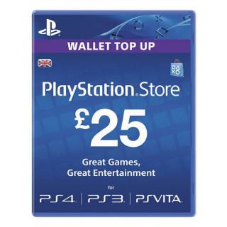 PlayStation Store ajándékkártya 25 Font (PS Store Card - UK)