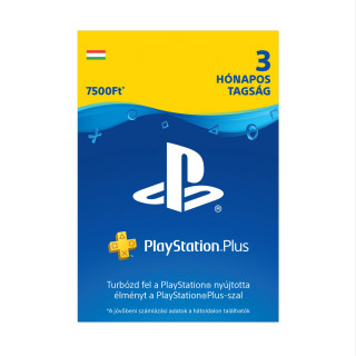 Playstation Plus kártya 3 hónapos (PS Plus)