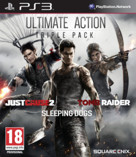 Ultimate Action Triple Pack (Just Cause 2, Sleeping Dogs, Tomb Raider) PS3