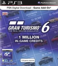 Gran Turismo 6 (GT 6) 1 millió kredit értékű feltöltőkártya PS3