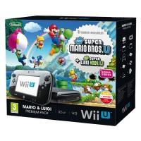Nintendo Wii U Premium + New Super Mario Bros. U + New Super Luigi U WII U