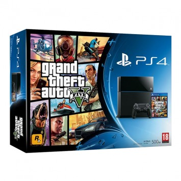 Playstation 4 (PS4) 500 GB + Grand Theft Auto V PS4