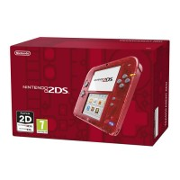 Nintendo 2DS (Átlátszó, piros) 3DS