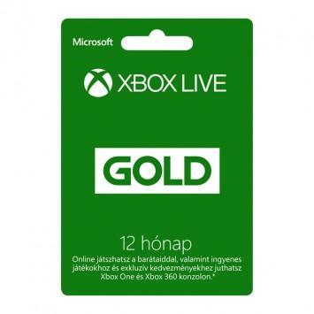 Xbox Live Gold 12 hónapos előfizetés Több platform