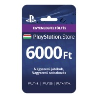 PSN Network kártya 6000 Ft (PSN Network Card - HU) Több platform