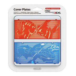 New Nintendo 3DS Cover Plate (Pokémon Omega Ruby/Alpha Sapphire mintázatú) (Borító) 3DS