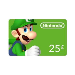 Nintendo eShop dobitná kartaa 25 Font Multiplatforma