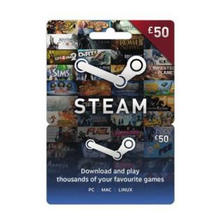 Steam Wallet Feltöltőkártya 50 Font PC