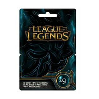 League of Legends Feltöltőkártya 9 Font
