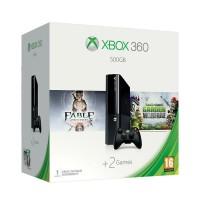 Xbox 360 E 500GB + Fable Anniversary + Plants vs Zombies Garden Warfare Xbox 360
