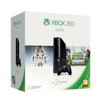 Xbox 360 E 500GB + Fable Anniversary + Plants vs Zombies Garden Warfare Xbox 360