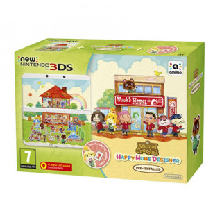 New Nintendo 3DS + Animal Crossing Happy Home Designer + Kártyacsomag 3DS
