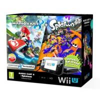 Nintendo Wii U Premium (Fekete) + Splatoon + Mario Kart 8 WII U