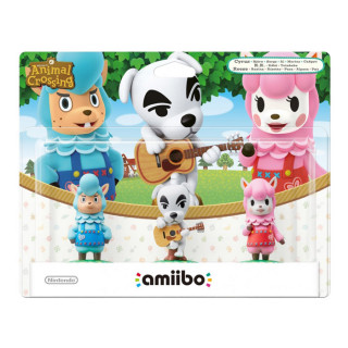 Animal Crossing amiibo Pack (Reese, Cyrus, K.K.) AJÁNDÉKTÁRGY