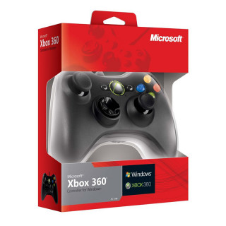 Xbox 360 Vezetékes Kontroller (Fekete)