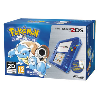 Nintendo 2DS (Átlátszó, Kék) + Pokémon Blue Version 3DS