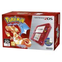 Nintendo 2DS (Átlátszó, Piros) + Pokemon Red Version 3DS