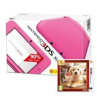 Nintendo 3DS XL (Rózsaszín) + Nintendogs + Cats Golden Retriever 3DS