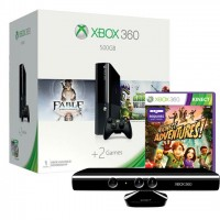 Xbox 360 E 500 GB + Kinect + Kinect Adventures + Fable Anniversary + Plants vs Zombies Xbox 360