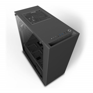 NZXT Source 340 Elite (Fekete, ablakos) (Táp nélküli) ATX ház (CA-S340W-B3)