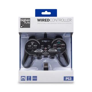 BigBen PS3 Wired (Vezetékes) Kontroller (fekete) PS3