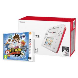 Nintendo 2DS (Fehér és Piros) + Yo-Kai Watch 3DS
