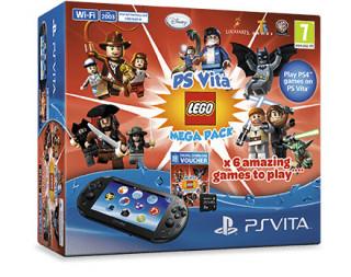 PS Vita (Wi-Fi) LEGO Mega Pack + 8GB-os Memóriakártya PS Vita