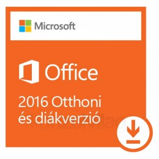 Microsoft Office 2016 Otthoni és diákverzió, bármilyen elérhető nyelven telepíthető (Letölthető) PC