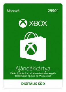 Xbox Live Feltöltőkártya 2990 HUF (Letölthető) MULTI