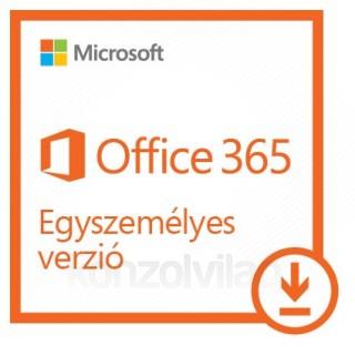 Microsoft Office 365 Egyszemélyes verzió, bármilyen elérhető nyelven telepíthető (Letölthető) PC